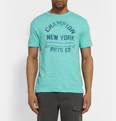 Todd Snyder - + Champion Printed Cotton-Jersey T-Shirt | MR PORTER