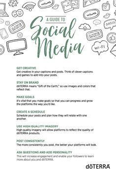 If you're trying to grow your doTERRA business, social media is the way to go. Facebook, Instagram, and other social media platforms are only getting bigger, and posting on them is the best way to reach a large group of individuals. Here are seven social media tips that will help increase engagement, allow you to have professional-looking platforms, and enable you to educate others on essential oils.