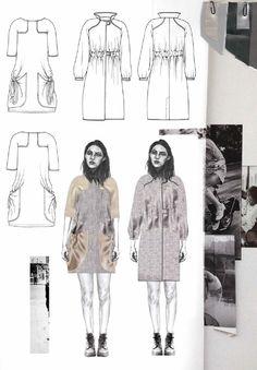 Fashion Sketchbook - fashion design drawings; fashion student portfolio // Joanna Fisher