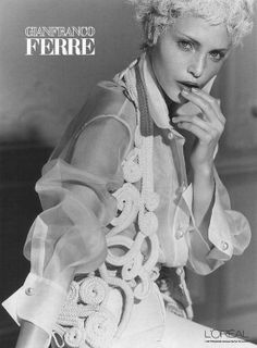 the white shirt (gianfranco ferre spring 1994 campaign)