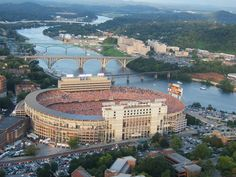 Neyland Stadium on the river in Knoxville, TN