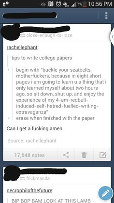 Tips to write college papers