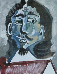 Pablo Picasso, 1967 Mousquetaire- buste 2 on ArtStack #pablo-picasso #art