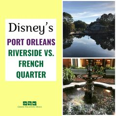 Our family loves the two Port Orleans hotels at Disney World: Riverside & French Quarter. Both are considered moderate resorts (not the most expensive but not the cheapest). They are a boat's ride away from Disney Springs & have fun, family friendly theming. If you're thinking about staying at one of these Disney hotels, then see how they compare when it comes to theming, convenience, dining, rooms, pools, pricing & more. Excellent Disney advice for your next Orlando vacation…
