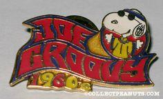 Hippie Snoopy(Peanuts) on face book   Snoopy Hippie 'Joe Groovy 1960′ Pin