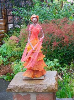 by Sandra June Originals. African Lady Contemporary Sculpture. Now gone to her new home.