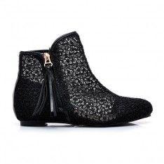 KORONKOWE BOTKI X631B /S3-69P Ankle, Boots, Fashion, Crotch Boots, Moda, Wall Plug, Fashion Styles, Shoe Boot, Fashion Illustrations