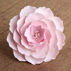 Large Pink Gumpaste Briar Rose sugarflower handmade cake topper perfect for cake decorating fondant cakes & wedding cakes.  | CaljavaOnline.com #caljava #sugarflower #gumpaste
