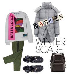 """winter scarf"" by giopanagi on Polyvore featuring Prada, Balenciaga and winterscarf Balenciaga, Prada, Winter, Polyvore, Fashion, Moda, Fasion, Trendy Fashion, La Mode"