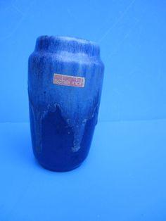 Scheurich Fat Lava Keramik Vase - Laufglasur blau - 231-15 -