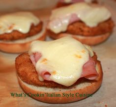 Whats Cookin Italian Style Cuisine: Chicken Cordon Bleu Sliders Recipe