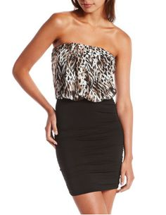 b64c9b8141705 Shop for Blouson Leopard Tube Dress by Charlotte Russe at ShopStyle.