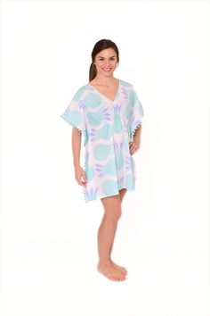 Amagansett Pom-Pom Dress | cover up | beach wear | resort wear | made in america | beach style | summer | beach cover up | beach bag | pom poms