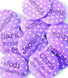 THIS COULD BE COOL. Hen's party   custom made badges  choose your colour by BadgeBliss