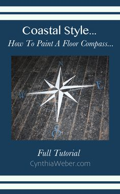 Client Diaries: Jess & Brad... Front Entrance Reveal & A Painted Floor Compass Tutorial