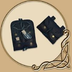 Leather Potion Holder - with two Bottles