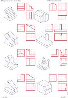 Isometric Sketch, Isometric Art, Isometric Design, Architecture Drawing Sketchbooks, Architecture Concept Drawings, Architecture Diagrams, Architecture Portfolio, Geometric Shapes Art, Geometric Drawing