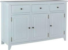 Heart of House Cambria 3 Door 3 Drawer Sideboard - White.
