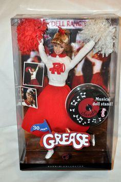 Barbie SANDY doll Grease NIB NRFB - Pink Label - 30-year Anniversary w/stand