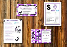 Check out this item in my Etsy shop https://www.etsy.com/listing/242406867/purple-butterfly-baby-shower-invitation