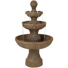 John Timberland Ravenna Italian Fountain (€280) ❤ liked on Polyvore featuring home, outdoors, fountains, red and fountain