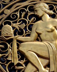 Detail: Classical Figure, Fisher Building Entrance, 3011 West Grand Boulevard--Detroit MI by pinehurst19475, via Flickr