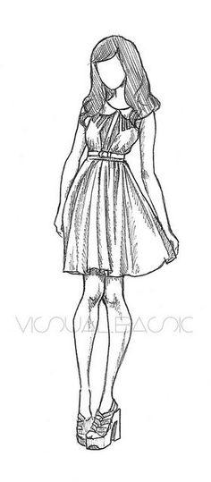 rachel nhan fashion sketches - Google Search