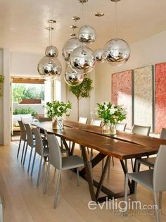 Camino Santander, Santa Fe Residence   Modern   Dining Room   R Brant  Design I Love The Round Globes, A Perfect Way To Add The Metal Element To A  Room