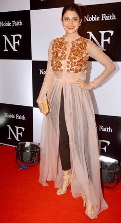 Overlay style kurtis. Read more http://fashionpro.me/11-designer-kurti-designs-youll-adore