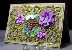 Shades of Summer (FG) by Francie G. - Cards and Paper Crafts at Splitcoaststampers - her inspiration: https://www.pinterest.com/pin/379146862354165510/