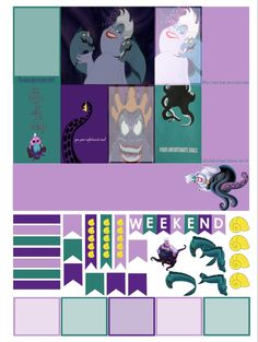 Free Ursula Planner Stickers