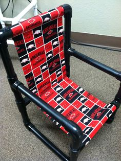 Arkansas Razorback Pvc Pipe Toddler Chair