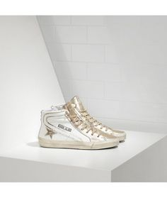 super popular 78ebc e1dfc Golden Goose Slide Sneakers In Leather With Leather Star - Golden Goose  Outlet www.getggdb.com