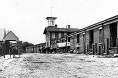 old towne petersburg - very early photo of the Train Station