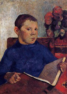 Clóvis, 1886 Paul Gauguin (França, 1848-1903) óleo sobre tela, 56 x 40 cm Portland Museum of Art, Maine