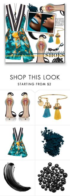 """Colors"" by kawtar-el ❤ liked on Polyvore featuring Casadei, Anton Heunis, Elie Saab, Laura Mercier, Dolce&Gabbana and Monica Rich Kosann"