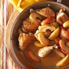 Nothing says autumn quite like the spiced aroma of this chicken stew with cider, apples and brandy. Magnifique! #greypoupon