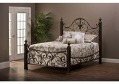 1648-mikelson-bed-set-king-w-rails - Free Shipping!
