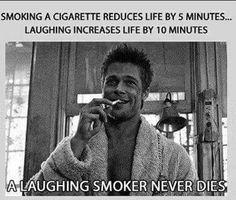 Laughing smoker