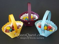 Qbee's Quest: Circles Framelits Easter Basket | video tutorial https://www.youtube.com/watch?v=TIIeBPZmthE