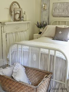 Little farmstead: a country home tour {kathleen beyer, faded charm} farmhouse style Decor, Bedroom Frames, Room, Beautiful Bedrooms, Home, Dreamy Bedrooms, Bedroom Decor, Bedroom Vintage, Bedroom Ideas Pinterest