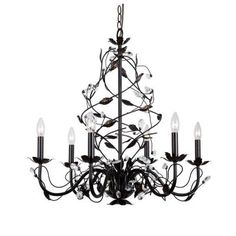 Hampton Bay 6 Light Oil Rubbed Bronze Chandelier