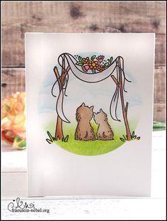 handgemachte Hochzeitskarte mit lawn fawn, Waffle Flower und Mama Elephant für die #alpakahochzeit | fraeulein-nebel.org Lawn Fawn, Mama Elephant, Wedding Cards, Cardmaking, Mists, Card Wedding, Xmas Cards, Wedding Ecards, Wedding Invitation Cards