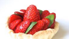 Tarte aux fraises & basilic