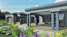 4 Bedroom House Plan - My Building Plans South Africa Split Level House Plans, Single Storey House Plans, Square House Plans, Free House Plans, Best House Plans, 4 Bedroom House Designs, 4 Bedroom House Plans, Family House Plans, Bungalow House Design