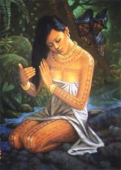 """A girl's first menstruation was celebrated. it was seen as a crucial period in womanhood. Girls were required to go through an """"intricate rite of passage."""" It was seen as """"dating"""" amonst the Tagalogs. Philippine Mythology, Philippine Art, Philippine Women, Filipino Art, Filipino Culture, Traditional Filipino Tattoo, Filipino Funny, Traditional Ink, Traditional Dresses"""