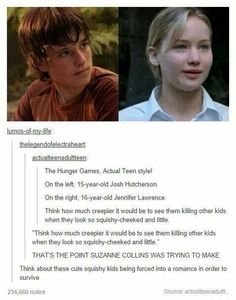 Sick and twisted is the whole point of the Hunger Games, people!