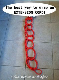 Bella Before and After: Q-Tip : How to wrap an extension cord