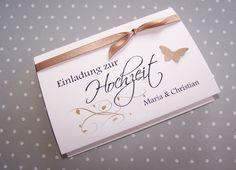Einladung Hochzeit nougat www.kartenmanufaktur-arndt.de