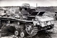 Abandoned Pz.Kpfw. III Ausf. Lfrom the 4th Tank Regiment, 13th Panzer Division Wehrmacht, Spring 1943.